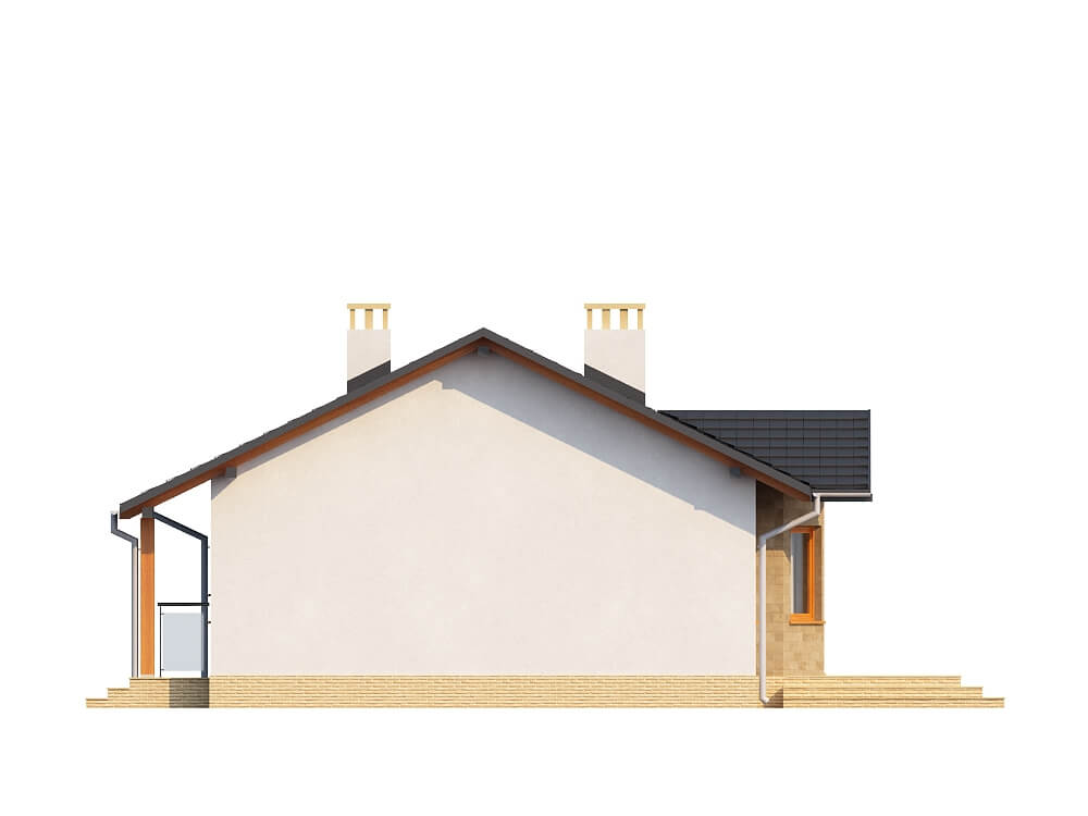 Projekt domu DM-6196 - elewacja