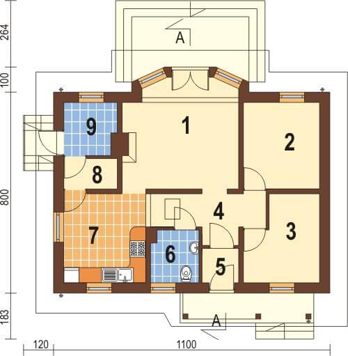 Projekt domu DM-6196 - rzut