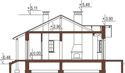 Projekt domu DM-6196 - przekrój