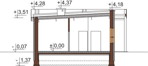Projekt LK-73 - przekrój