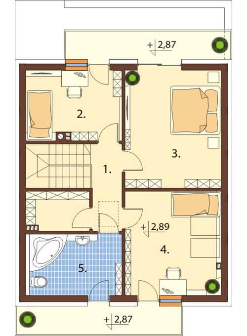 Projekt domu L-6545 - rzut