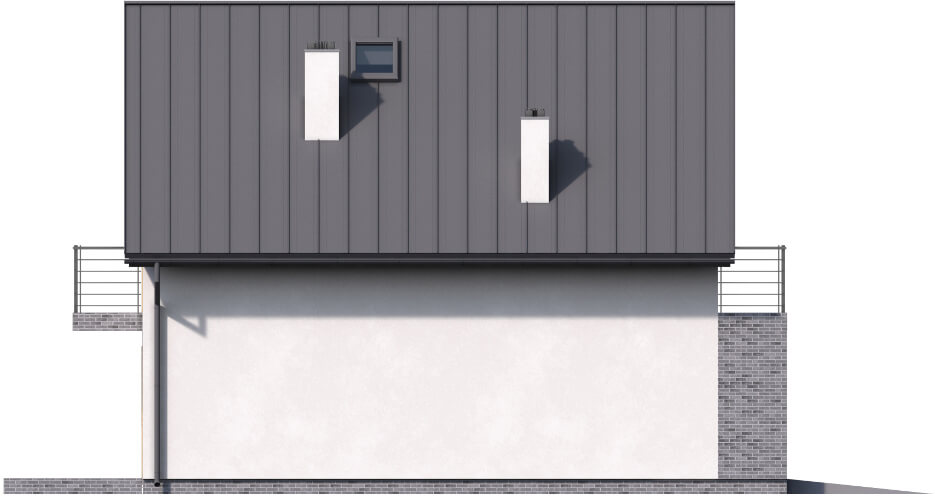 Projekt domu L-6545 - elewacja