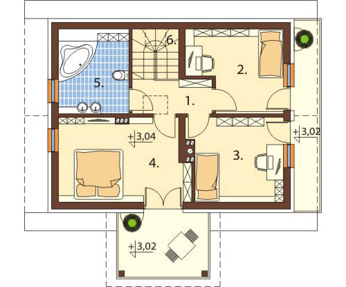 Projekt domu L-6559 - rzut