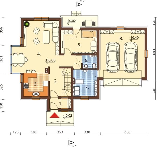 Projekt domu L-6573 - rzut