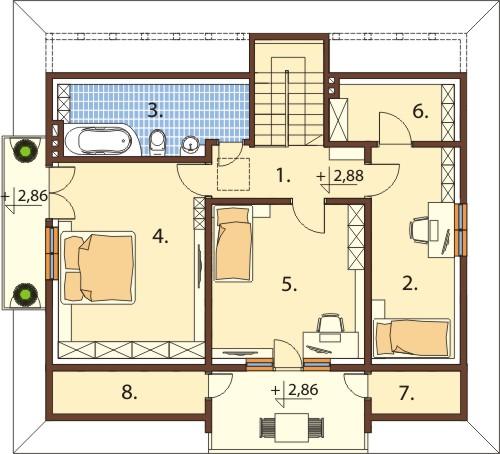 Projekt domu L-6575 - rzut