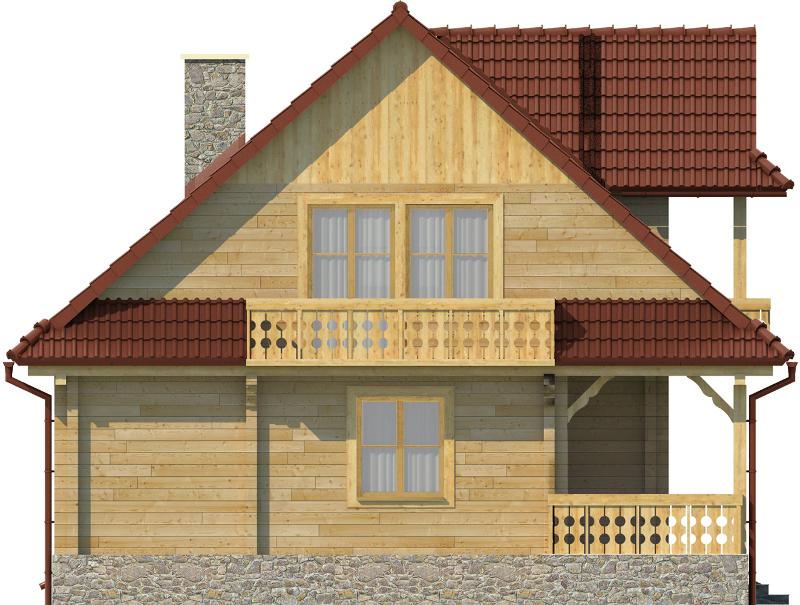 Projekt domu L-6575 - elewacja