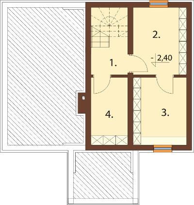 Projekt domu DM-6559 - rzut