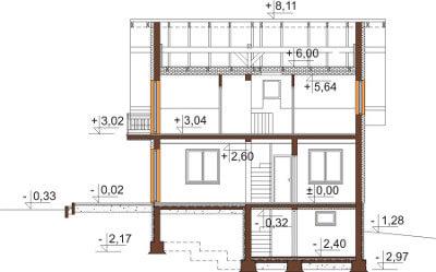 Projekt domu DM-6559 - przekrój
