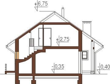 Projekt domu DM-6197 - przekrój