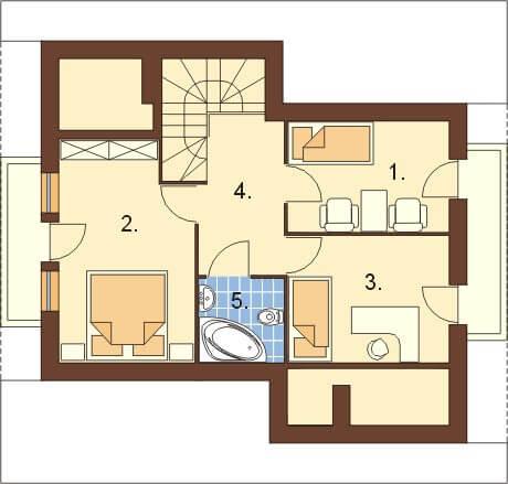 Projekt domu DM-6197 - rzut