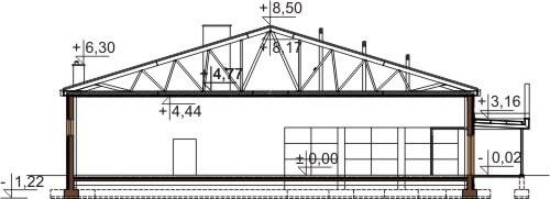 Projekt LK-78 - przekrój
