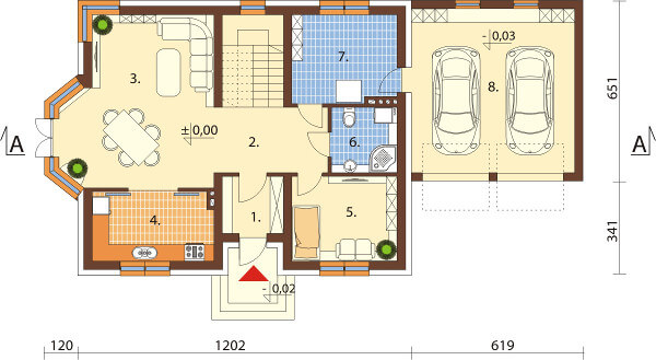 Projekt domu DM-6577 - rzut