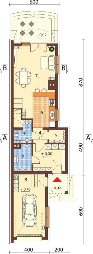 Projekt domu DM-6555 - rzut