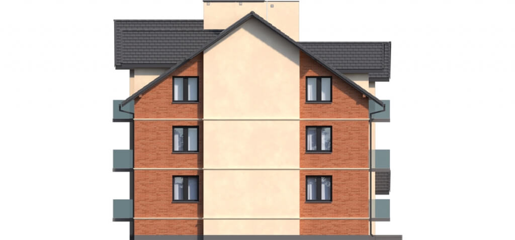 Projekt domu DM-6487 B - elewacja