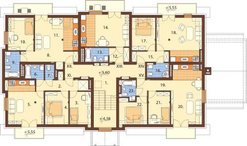 Projekt domu DM-6487 B - rzut