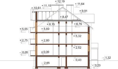 Projekt domu DM-6487 B - przekrój