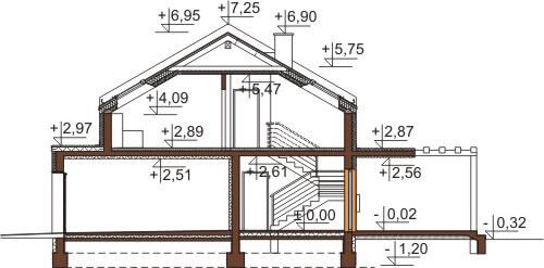 Projekt domu DM-6557 - przekrój