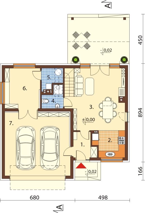 Projekt domu DM-6557 - rzut