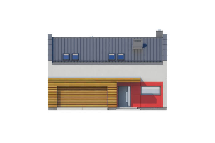 Projekt domu DM-6557 - elewacja