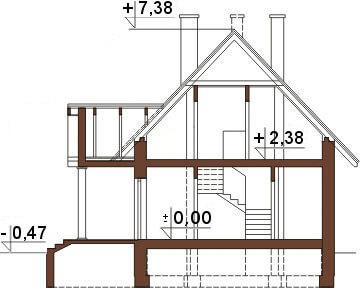 Projekt domu DM-6268 - przekrój