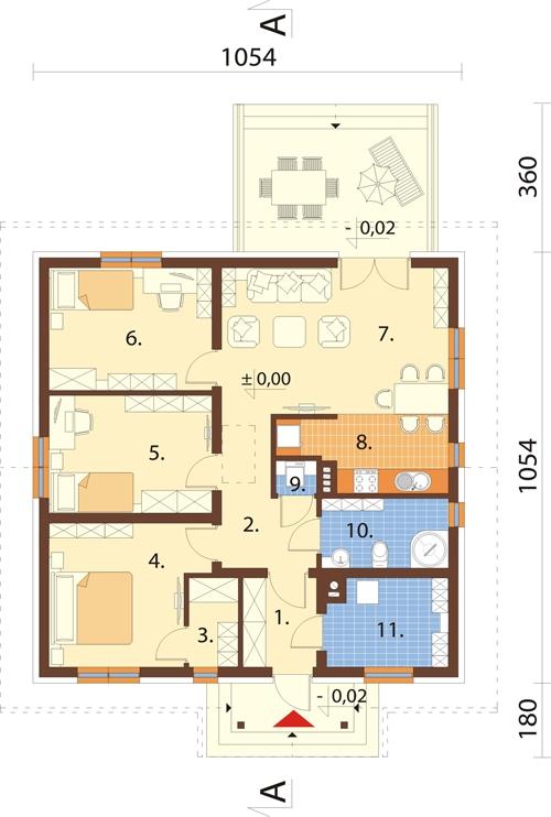 Projekt domu DM-6560 - rzut