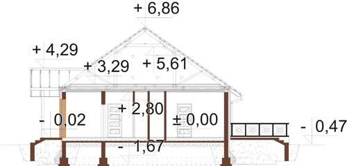 Projekt domu DM-6560 - przekrój