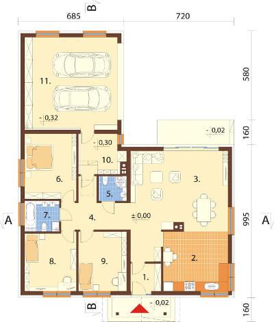 Projekt domu L-6558 - rzut