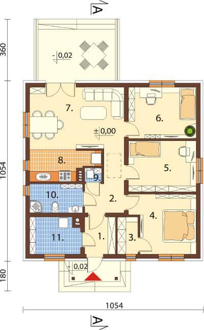 Projekt domu L-6560 - rzut