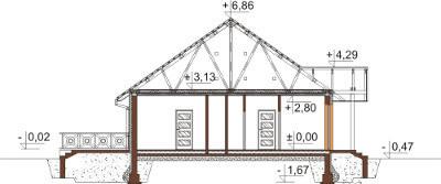 Projekt domu L-6560 - przekrój