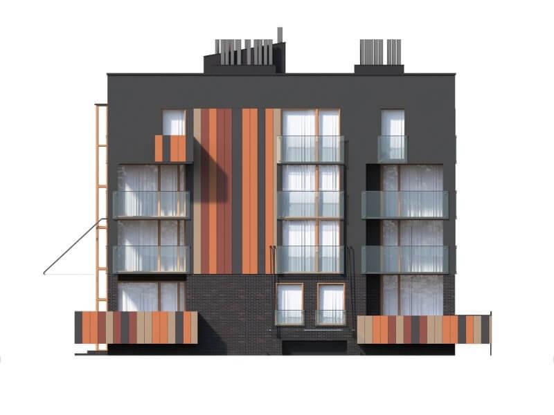 Projekt domu L-6549 - elewacja