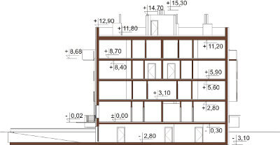 Projekt domu L-6549 - przekrój