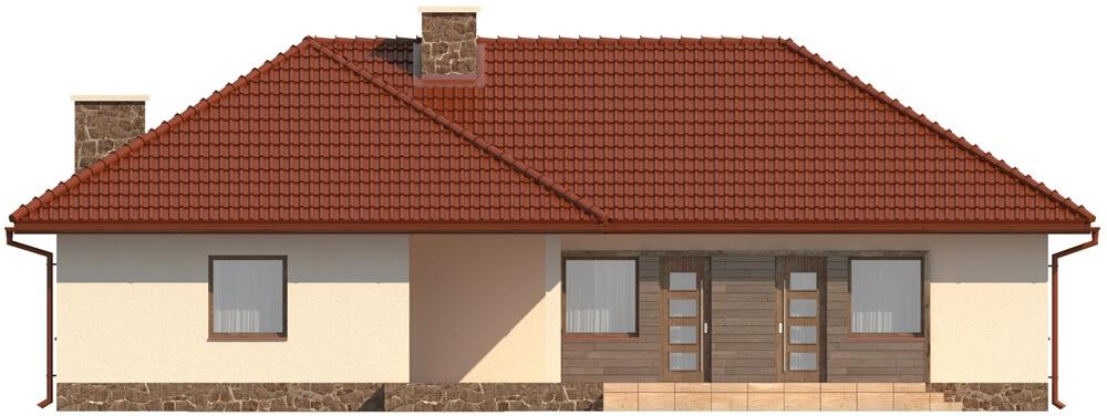Projekt domu DM-5556 - elewacja