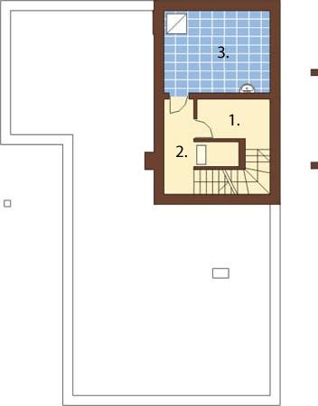 Projekt domu DM-5556 - rzut