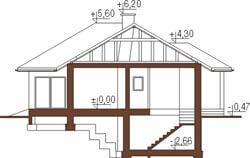 Projekt domu DM-5556 - przekrój