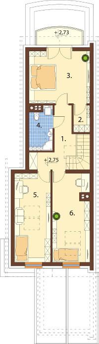 Projekt domu L-6555 - rzut