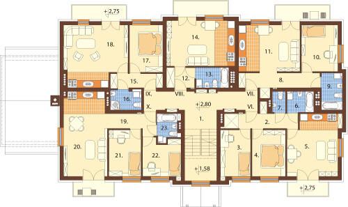 Projekt domu L-6487 B - rzut