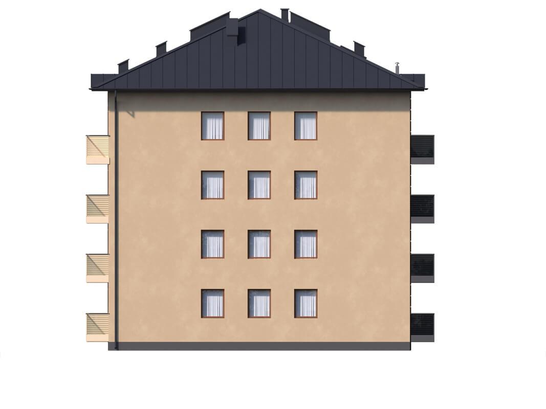 Projekt domu L-6496 B - elewacja