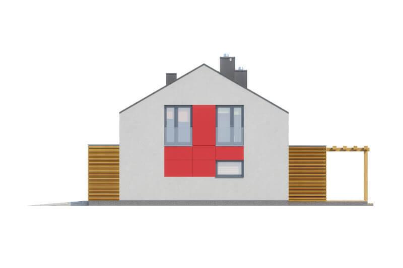 Projekt domu L-6557 - elewacja