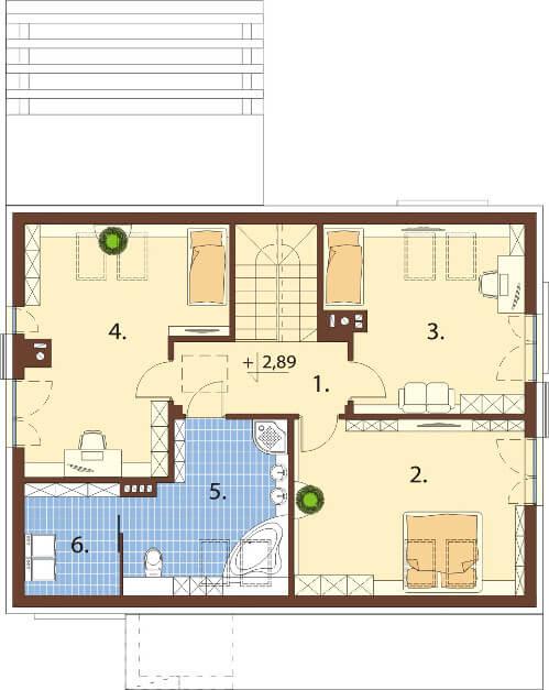 Projekt domu L-6557 - rzut