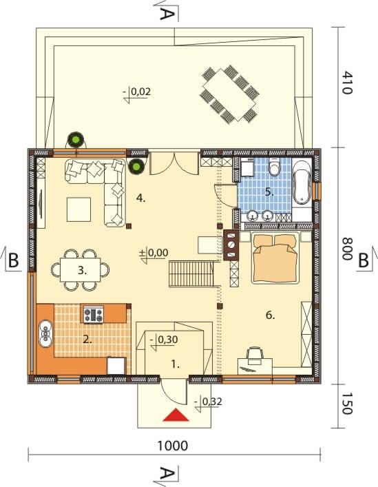 Projekt domu DM-6562 - rzut