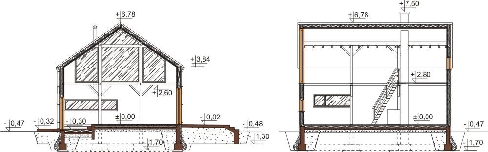 Projekt domu DM-6562 - przekrój