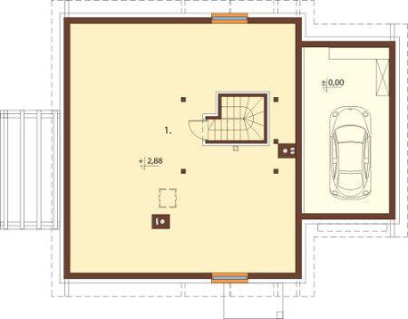 Projekt domu DM-6564 - rzut