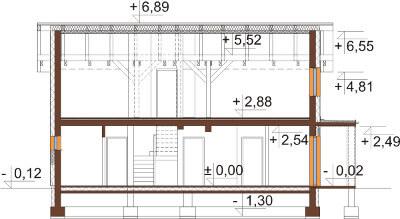 Projekt domu DM-6564 - przekrój