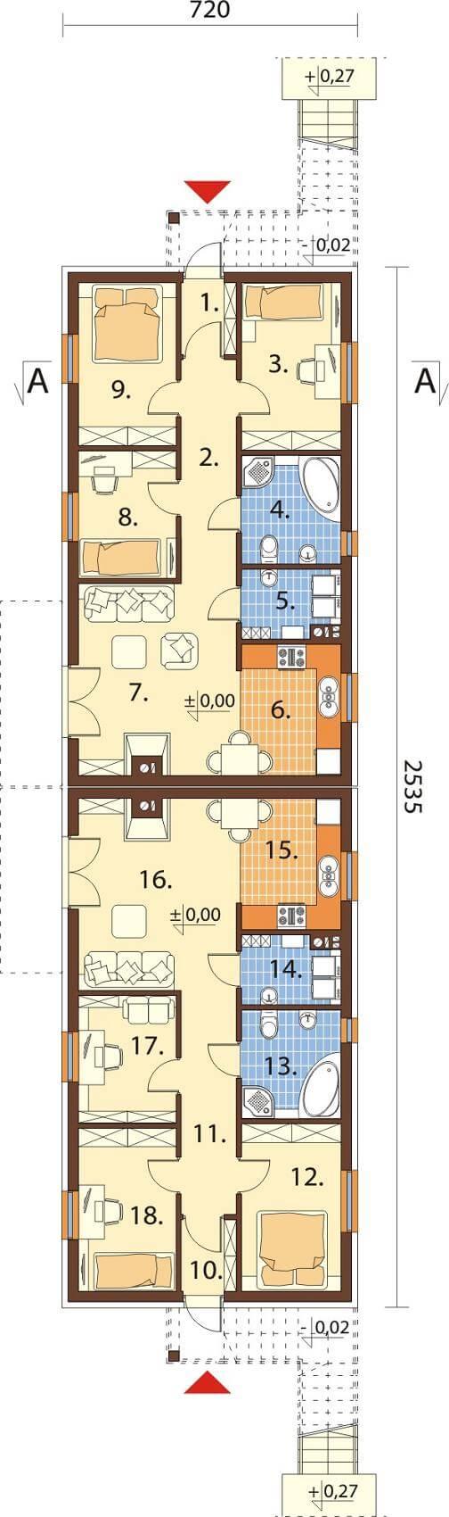 Projekt domu DM-6563 - rzut