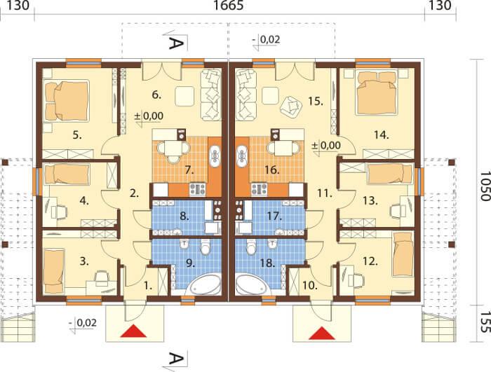 Projekt domu DM-6567 - rzut