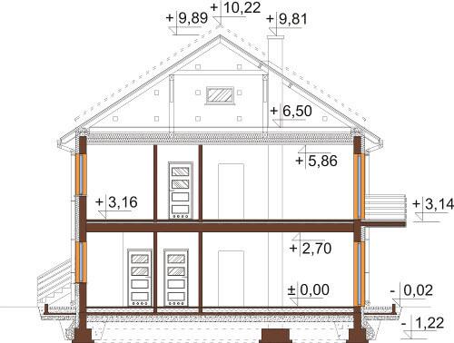 Projekt domu DM-6567 - przekrój
