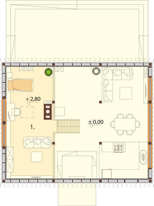 Projekt domu L-6562 - rzut