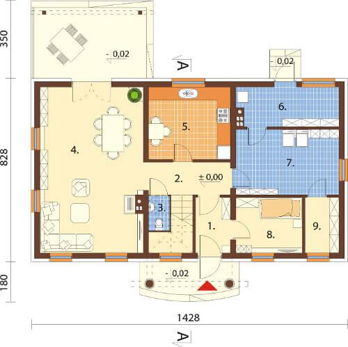 Projekt domu DM-6582 - rzut