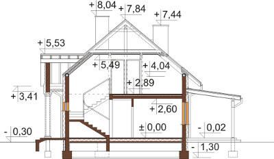 Projekt domu DM-6582 - przekrój