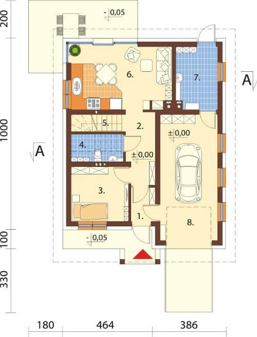 Projekt domu DM-6568 - rzut